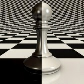 17040612-black-and-white-pawn-on-chessboard-background-3d-render